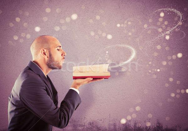 давать жизни воображение человека книга Сток-фото © alphaspirit