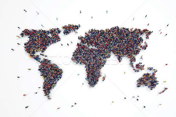 3D rendering of people world Stock photo © alphaspirit