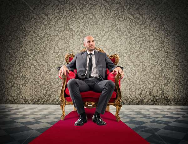 Successful royal businessman Stock photo © alphaspirit