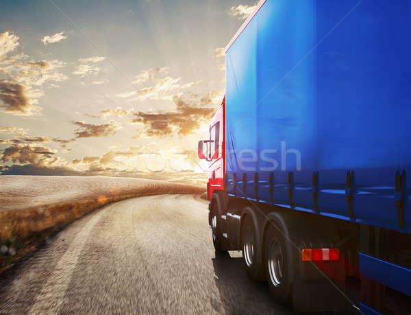 Truck transport. 3D Rendering Stock photo © alphaspirit