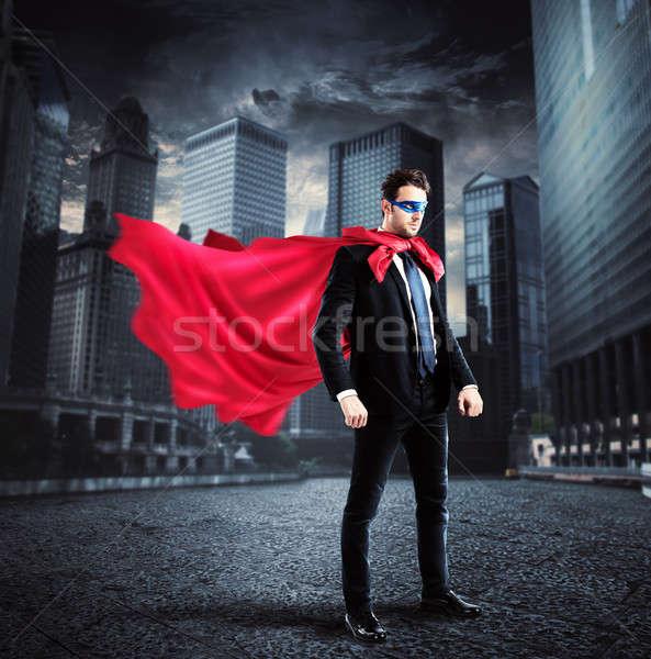 City superhero Stock photo © alphaspirit