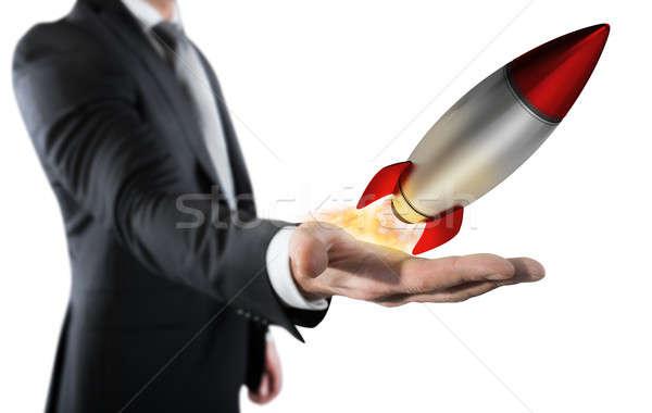 Startup werken zakenman klein Stockfoto © alphaspirit