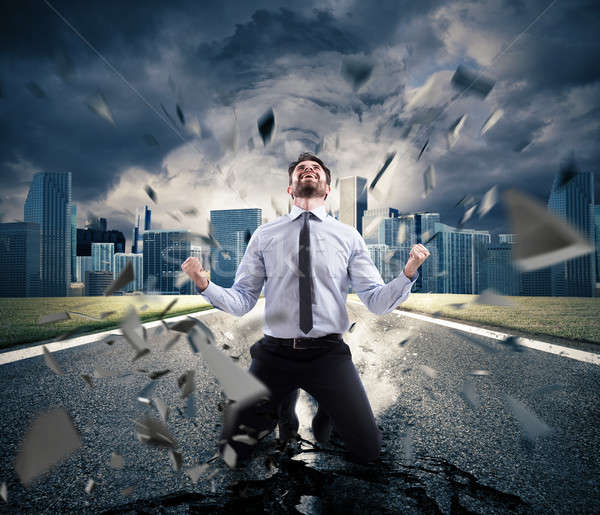 Power of successful businessman. Concept of determination Stock photo © alphaspirit
