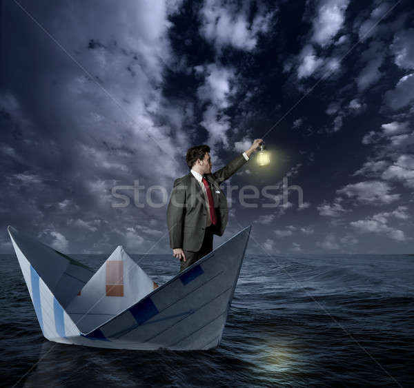 Businessman looking for affairs Stock photo © alphaspirit