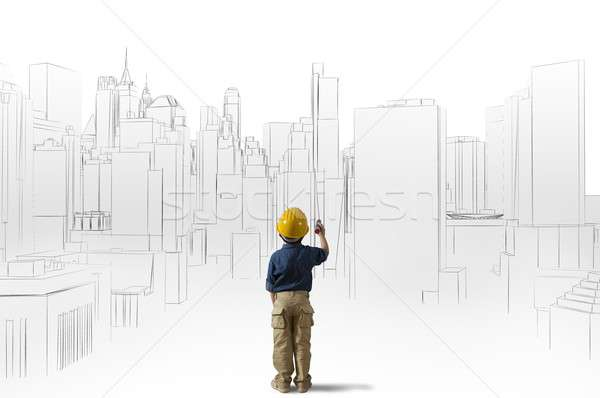 Ambition of a young architect Stock photo © alphaspirit