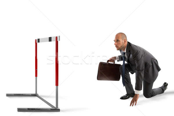 Business weg zakenman klaar race Stockfoto © alphaspirit