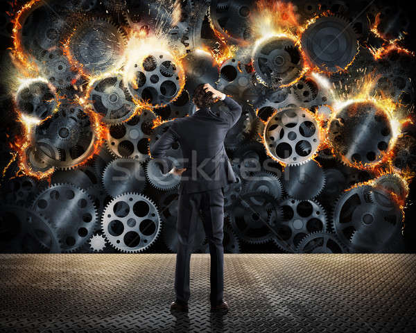 Stock photo: Worn system business problems