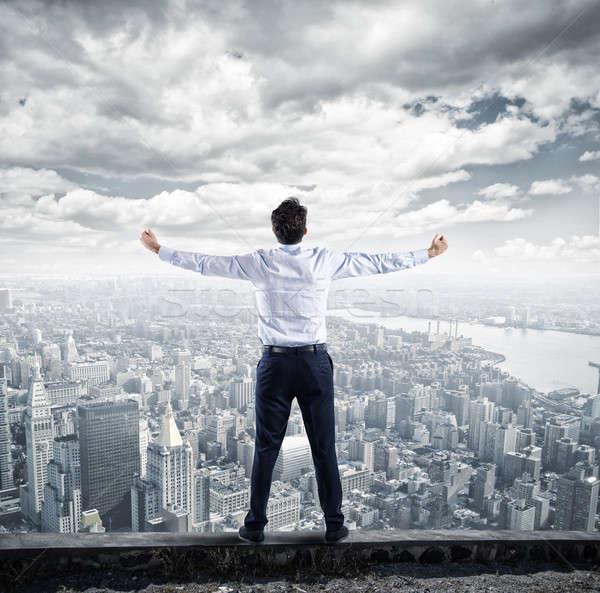 Sukces biznesmen górę działalności kariery ambitny Zdjęcia stock © alphaspirit