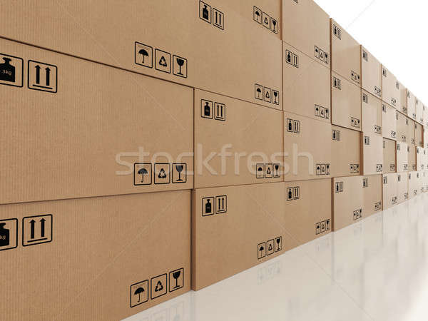 Packaged to be shipped. 3D Rendering Stock photo © alphaspirit
