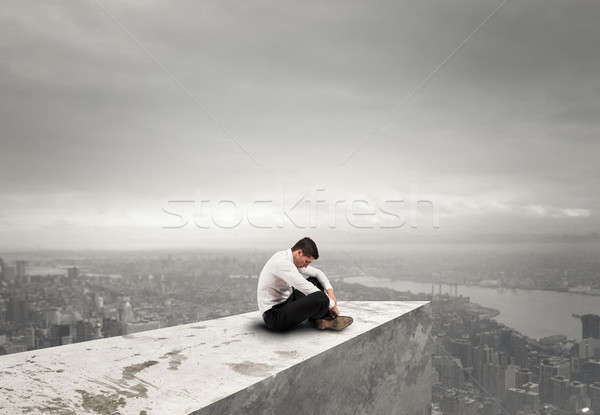 Alone desperate businessman. solitude and failure concept Stock photo © alphaspirit