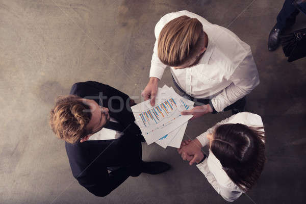 üzletemberek statisztika szám cég csapat emberek Stock fotó © alphaspirit