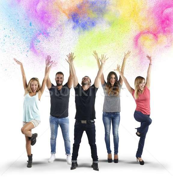 Colorful joy Stock photo © alphaspirit