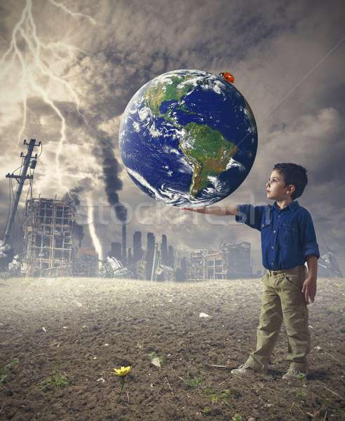 Save the world concept Stock photo © alphaspirit