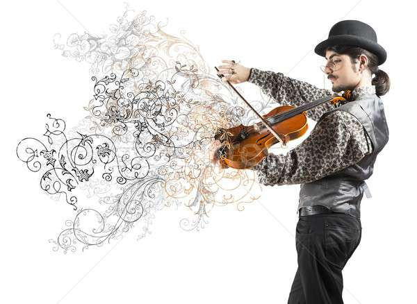 The violinist Stock photo © alphaspirit