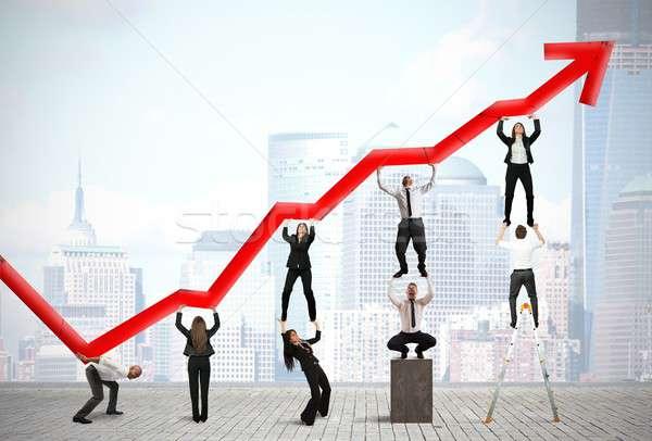 Teamwork and corporate profit Stock photo © alphaspirit