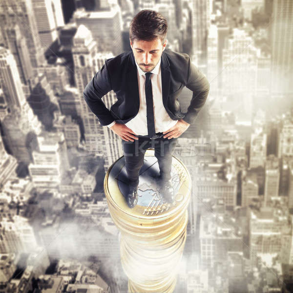 3D renderelt kép felső gazdaság férfi nagy Stock fotó © alphaspirit