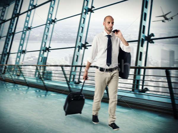 Businessman traveling for work Stock photo © alphaspirit