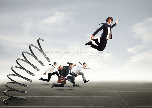 Overcome and achieve success Stock photo © alphaspirit