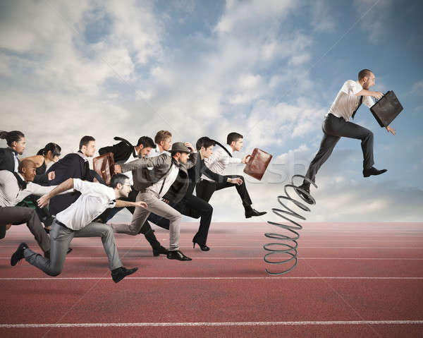Stock photo: Overcome and achieve success