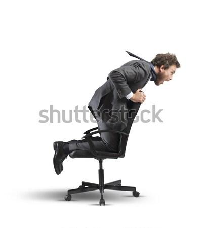 Businessman relax and think Stock photo © alphaspirit