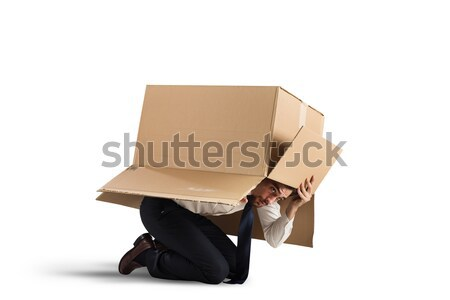Afraid businessman Stock photo © alphaspirit