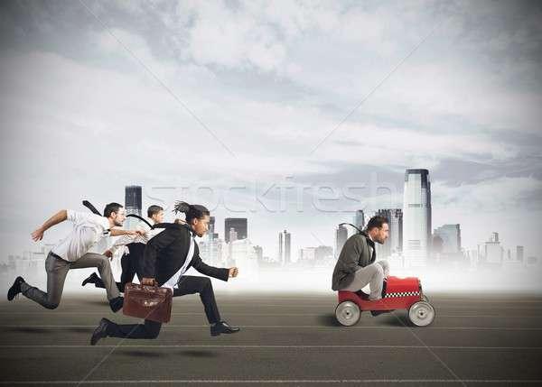 Businesspeople competing Stock photo © alphaspirit