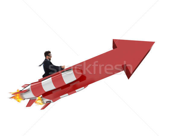 Take-off business success. 3D Rendering Stock photo © alphaspirit