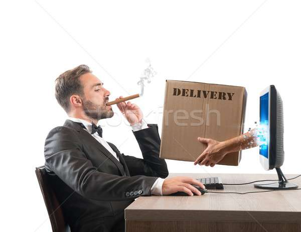 Fast delivery Stock photo © alphaspirit