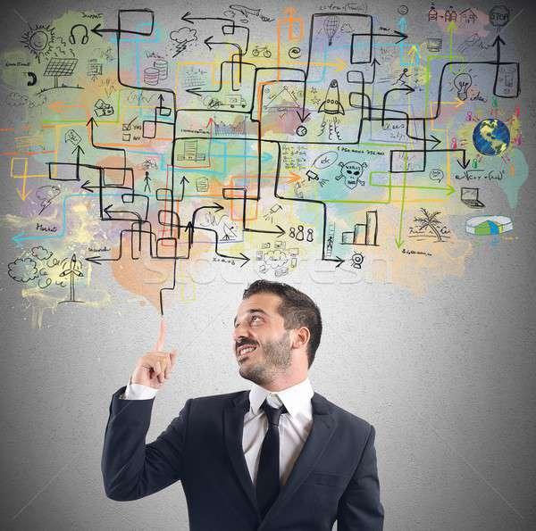 Businessman idea plan Stock photo © alphaspirit
