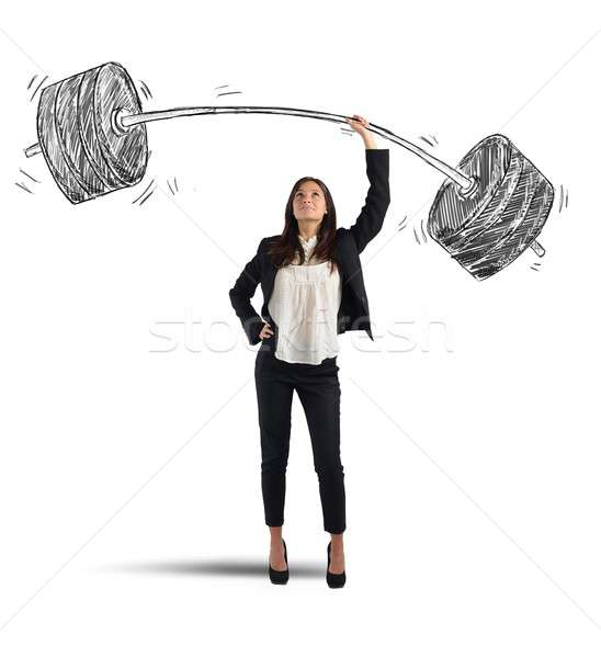 Businesswoman success Stock photo © alphaspirit