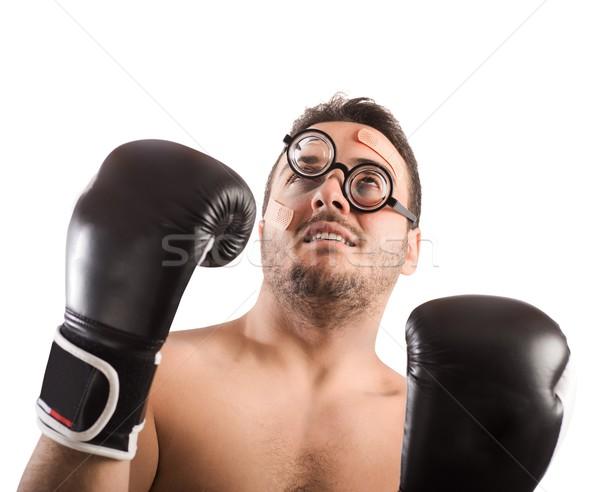 Goofy boxer Stock photo © alphaspirit