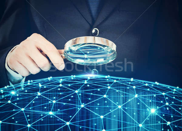 Stock photo: Discovery system of interconnection of network