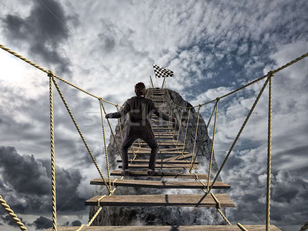Llegar éxito difícil logro negocios objetivo Foto stock © alphaspirit