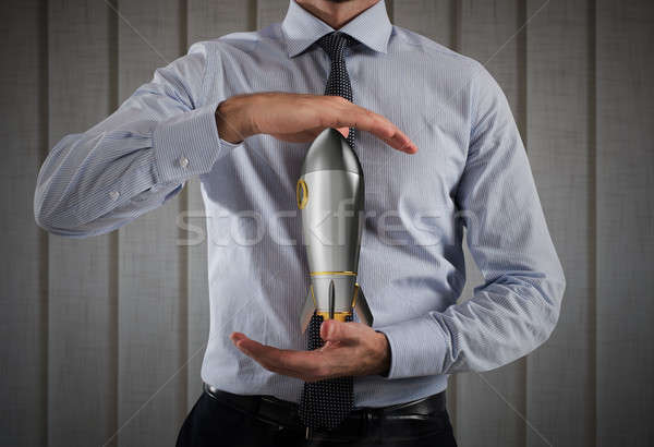 Startup nieuwe bedrijf business zakenman Stockfoto © alphaspirit