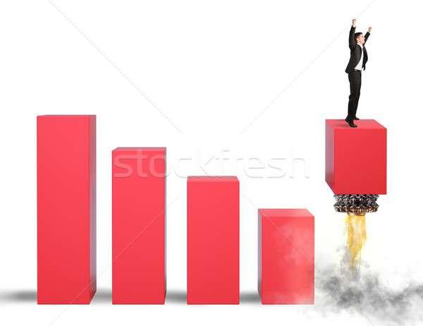 Economía desafiar empresario hombre trabajo Trabajo Foto stock © alphaspirit