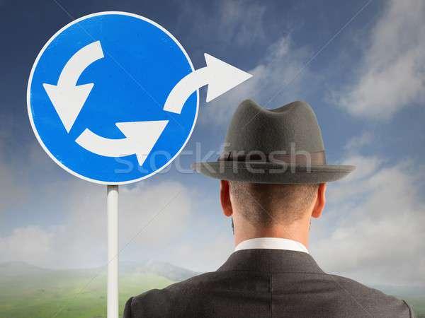 脱出 ループ ビジネス 道路 信号 フィールド ストックフォト © alphaspirit