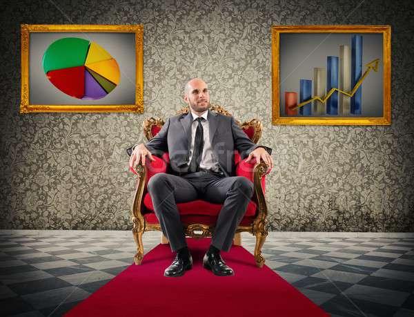 гордость финансовых успех успешный бизнесмен сидят Сток-фото © alphaspirit