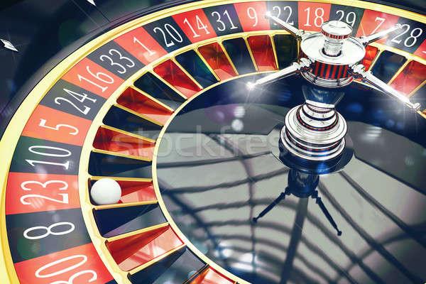 3D Rendering of roulette Stock photo © alphaspirit