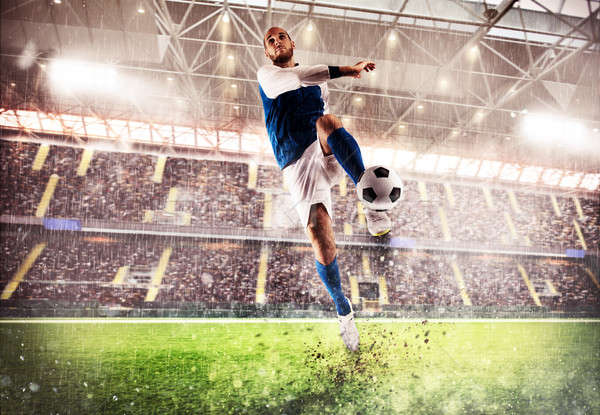 стадион футболист играть аудитории трава Сток-фото © alphaspirit