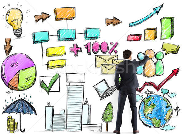 Project of business analysis Stock photo © alphaspirit