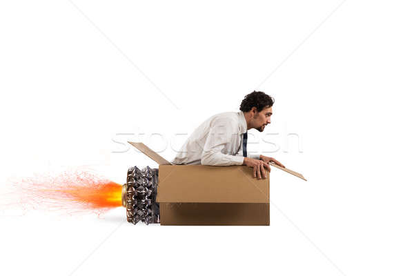 Cardboard missile Stock photo © alphaspirit
