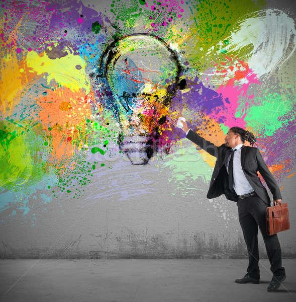 Paint an idea Stock photo © alphaspirit