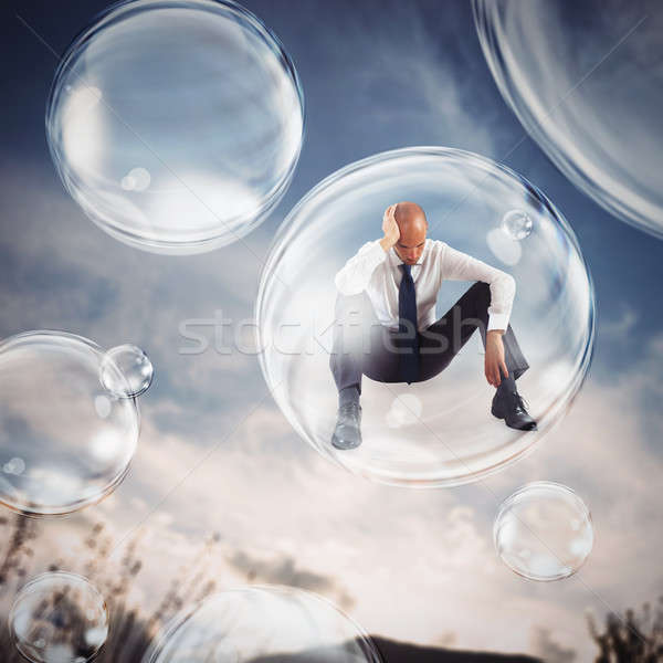 Isolate themselves inside a bubble Stock photo © alphaspirit