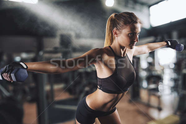 Workout at the gym Stock photo © alphaspirit