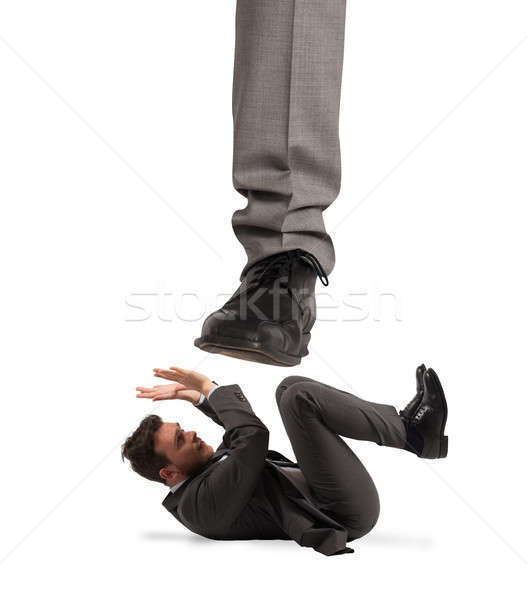 агрессивный Boss страшно сотрудник бизнеса бизнесмен Сток-фото © alphaspirit