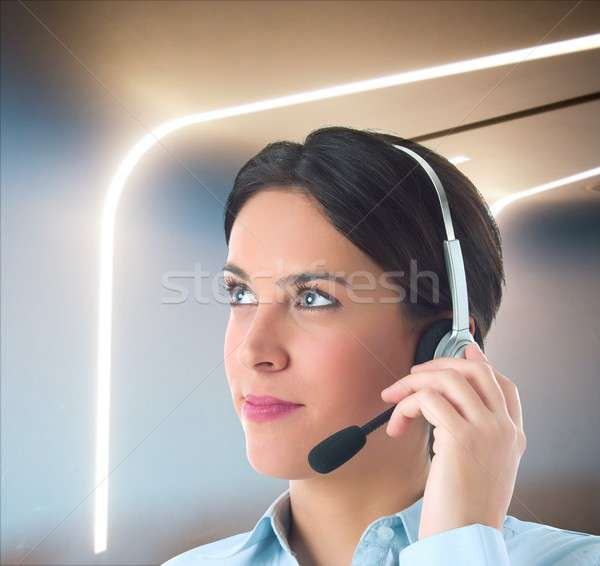 Customer support in a modern office Stock photo © alphaspirit