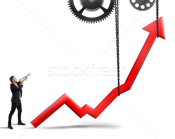 Raise the statistics Stock photo © alphaspirit