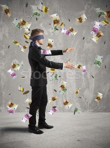 üzletember nem lát üzlet pénz munka Stock fotó © alphaspirit