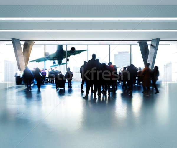 Waiting at the airport Stock photo © alphaspirit