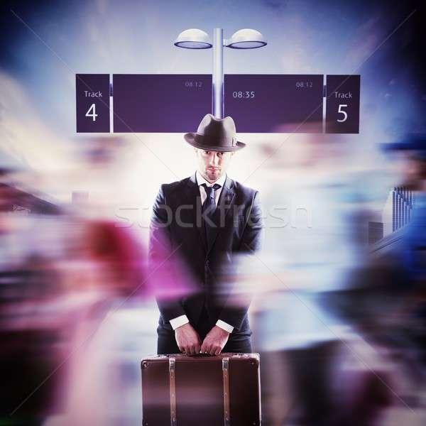 Elegant passenger Stock photo © alphaspirit